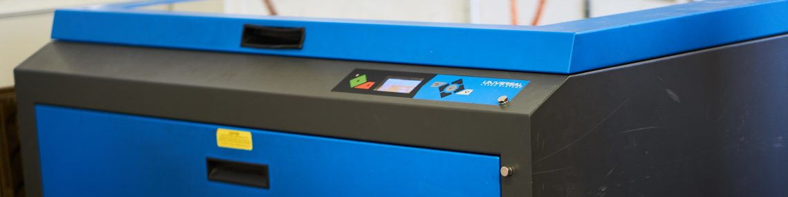 A laser cutting and engraving machine