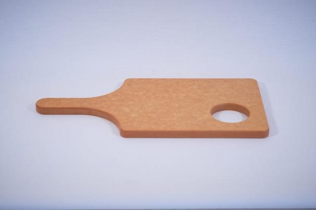 A composite cutting board cut by a CNC machine
