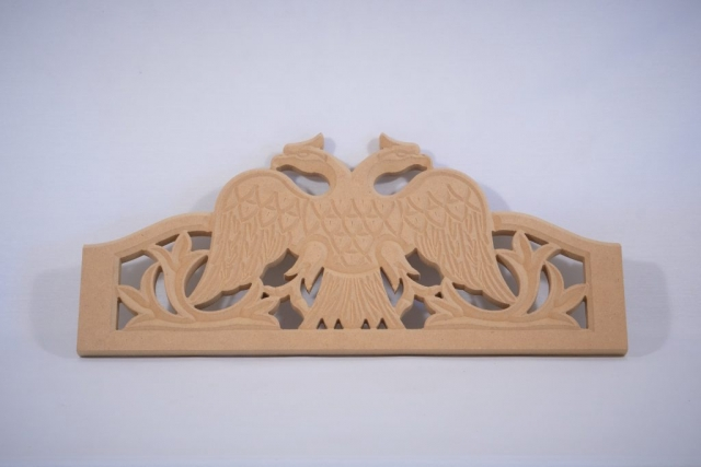 MDF engraved on a CNC machine
