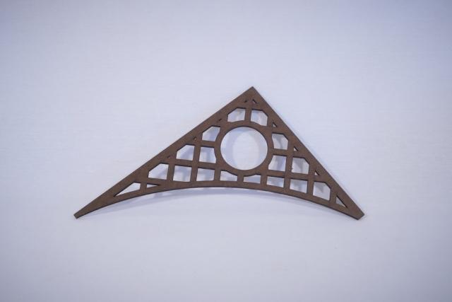 Masonite cut on a laser