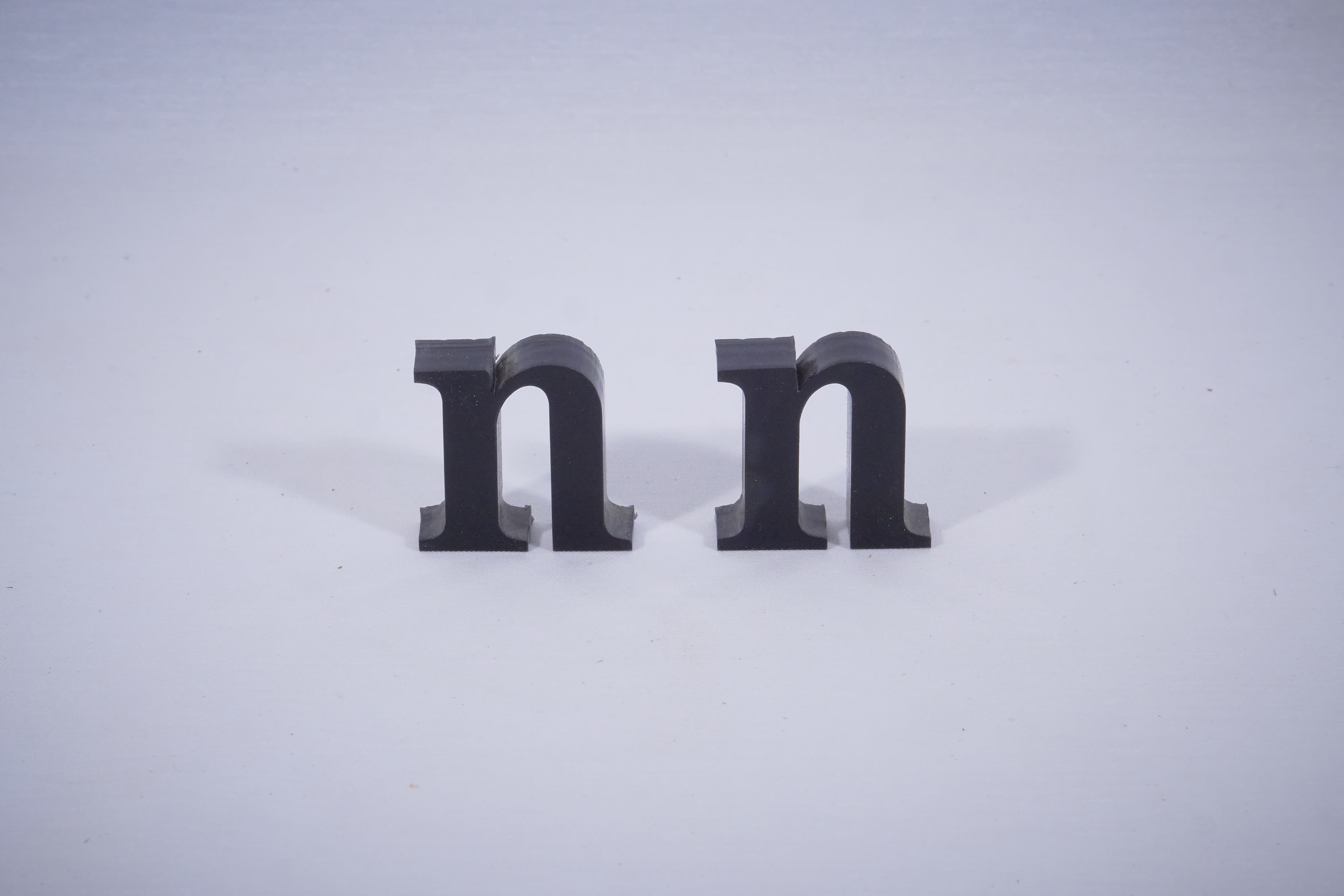 Acrylic letters cut by laser